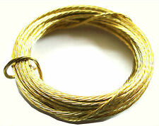 BRASS  PICTURE HANGING WIRE PHOTOS FRAMES 6 METRES