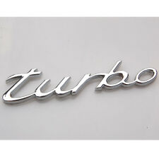 Metal Car Rear Trunk Decal 3D Turbo Letter Badge Emblem Sticker Sliver