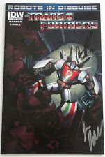 New  SIGNED  John Barber & Brandon Cahill  Transformers  #7 CVR A   SDCC  2012