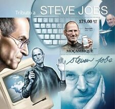 MOZAMBIQUE TRIBUTE TO STEVE JOBS APPLE PHONE S/S MNH C11 MOZ11604 u