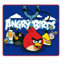 ANGRY BIRDS FLEECE BLANKET 120 X 140CM 100% POLYESTER BNWT OFFICIAL LICENSED