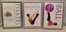 3 workout exercise fitness DVD lot, simply pilates ball, the authentic way