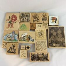 Mounted Rubber Stamp Lot of 20 Mixed Themes Stampin Up Stampede Stampscapes More