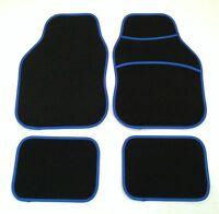 Black & Blue Car Mats For Peugeot 106 107 206 207 307 308 309 405 Gt