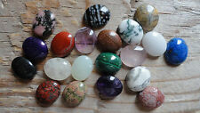 Cabochon Gemstones ASSORTED 10x12 mm Pkg 19 Different stones