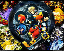 "Kingdom Hearts Boy 1 2 Game Fabric Poster 32"" x 24"" Decor 31"