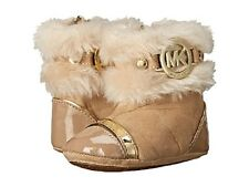 NEW Michael Kors Kids Grace Nia Infant Toddler Faux Fur Camel Booties Boots sz 3