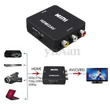 720p/1080P HDMI A RCA Audio Video AV CVBS HD TV Adaptador Conversor HDTV DVD
