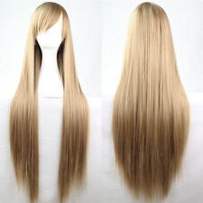 Dark Blonde Cosplay Wig High Quality Hair Women Resistant Long Wave Full Wigs