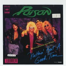 """Poison - Nothin' But A Good Time c/w Look But You Can't Touch 7"""" JAPAN PROMO 45"""