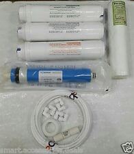 For RO Water Filter Complete Service Kit+80 GPD Vontron Membrane+Kemflo Spun