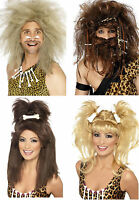 CAVEMAN CAVEWOMAN WIG Wild Messy Crazy Party Fancy Dress Accessories