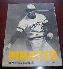 Pittsburgh Pirates Official Score Book 1975  vs Montreal Expos