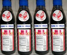 4 X Dark Danncy Pure Mexican Vanilla Extract 12oz Ea Plastic Bottles From Mexico
