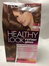 L'Oreal Healthy Look Creme Gloss Hair Color Light Brown / Chocolate Praline #6.