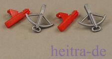 LEGO Ninjago - 2 Armbrust perl - dunkelgrau und 2 Köcher rot für Scout NEUWARE