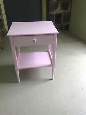 Bedside table, with drawer, Pink