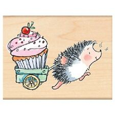 PENNY BLACK RUBBER STAMPS PRIZE CUPCAKE HEDGEHOG STAMP