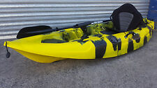 NEW SINGLE FISHING KAYAK CANOE SEA OCEAN SURF -  BUMBLE BEE