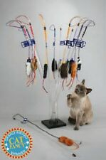 "Vee Enterprises PURRFECT CAT TOY  32"" Clear Wand Teaser COLORS VARY"