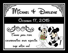 15 DISNEY MICKEY & MINNIE WEDDING FAVORS MAGNETS ~ PERSONALIZED