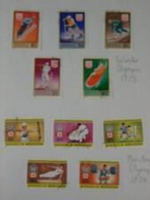"""""""olímpicos de invierno 1975' & 'Montreal olímpico 1964' utiliza conjuntos de sello montado, Mongolia"""