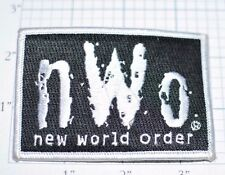 New World Order nWo Silver Embroidered Vintage Iron-On Patch Wrestling WWE