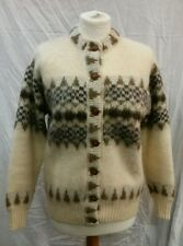 Womens Icelandic Thick Wool Cardigan Size Small