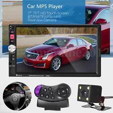 7'' Tactile 2Din Voiture Bluetooth Radio Autoradio MP5 FM TF Télécommande+Caméra