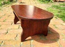 """8.5"""" h x 21"""" wide, Handcrafted Bedside OVAL Step Stool Wood, Heavy Duty Bed Step"""