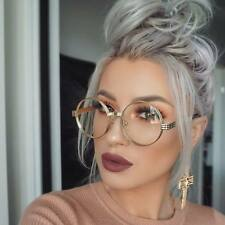 Mens Women CLASSIC VINTAGE Style Clear Lens EYE GLASSES Round Gold Fashion Frame