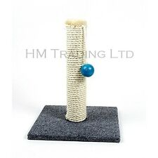 New Pet Cat Kitten Scratch Scratcher Scratching Natural Sisal Rope Post Ball Toy
