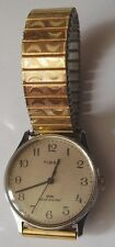 VINTAGE WATCH TIMEX SLIM STAINLESS STEEL GENTS WRISTWATCH WORKING ORDER 1970s