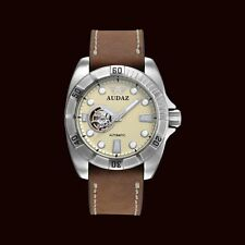 Audaz Gallant Automatic Japanese Movement Watch - Gun Metal Silver 100m Diving