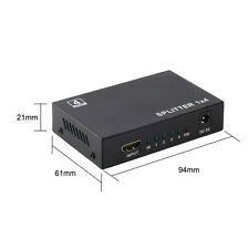 Full HD 1X4 Port HDMI Splitter Amplifier Repeater 3D 1080p 1 in 4 out Box Hub WP