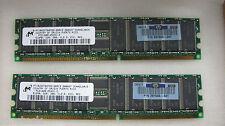 HP 1Gb (2X512MB) 266MHZ PC2100 CL2.5 ECC REGISTERED DDR 261584-041