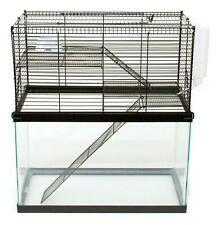 CHEW PROOF 3 LEVEL CAGE FOR YOUR 10 GALLON TANK HAMSTERS & MICE & GERBILS, MOUSE