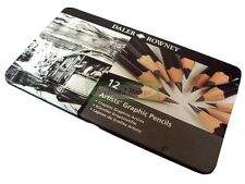 Daler Rowney Sketching Graphic Pencil Tin - Set of 12 Assorted Grades