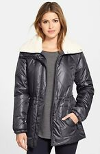 $245 NEW Kenneth Cole Women's Faux Sherpa Lined Jacket Puffer Coal  Size 1X