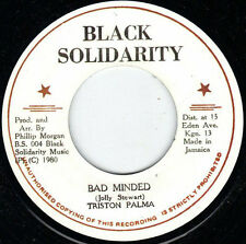 "Tristan Palmer ‎– Bad Minded UK 7"" ROOTS MINT Black Solidarity ‎"