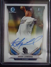 Zech Lemond 2014 Bowman Chrome Autograph Rc