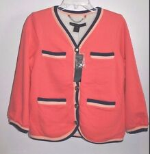 MARC BY MARC JACOBS Coral JACKET W/ FLEECE LINING & SILVER METAL BUTTONS nwt XS