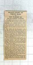 1942 Gen Dolittle Story Of Tokyo Raid New Warship Hit