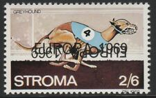 GB Locals - Stroma (1031) 1969 EUROPA opt DOUBLED, one INVERTED on DOGS 2s6d u/m
