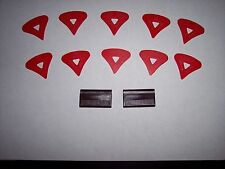 """McPherson RED 1980's Vintage Patented Guitar Picks (10 Picks ALL """" RED """" )"""