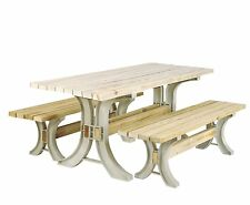 Table Picnic Kit Any Size Custom Bench Chair End Outdoor Patio Garden Park Wood