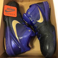 Nike Zoom Kobe IV 4 Gradient sz 12 Black Purple White Away Yellow Stage v iii i