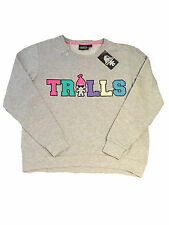 PRIMARK OFFICIAL LADIES WOMENS TROLLS TOY FILM MOVIE LOGO JUMPER SWEAT BNWT 20