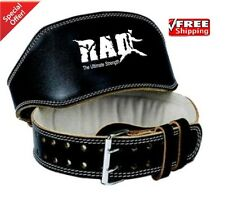"2Fit Leather Belt 4"" Gym Power Heavy Duty Weight Lifting Bodybuilding Large New"