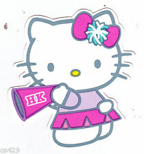 """3""""  HELLO KITTY  PEP RALLY CHEER CHARACTER  WALL BORDER PEEL & STICK CUT OUT"""